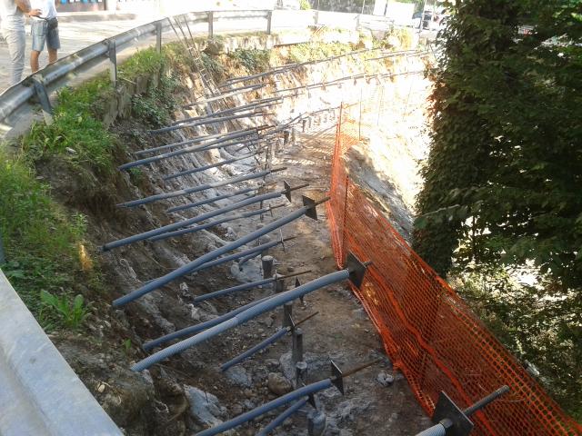 Opera strutturale - Spritz beton (durante) Valli del Pasubio